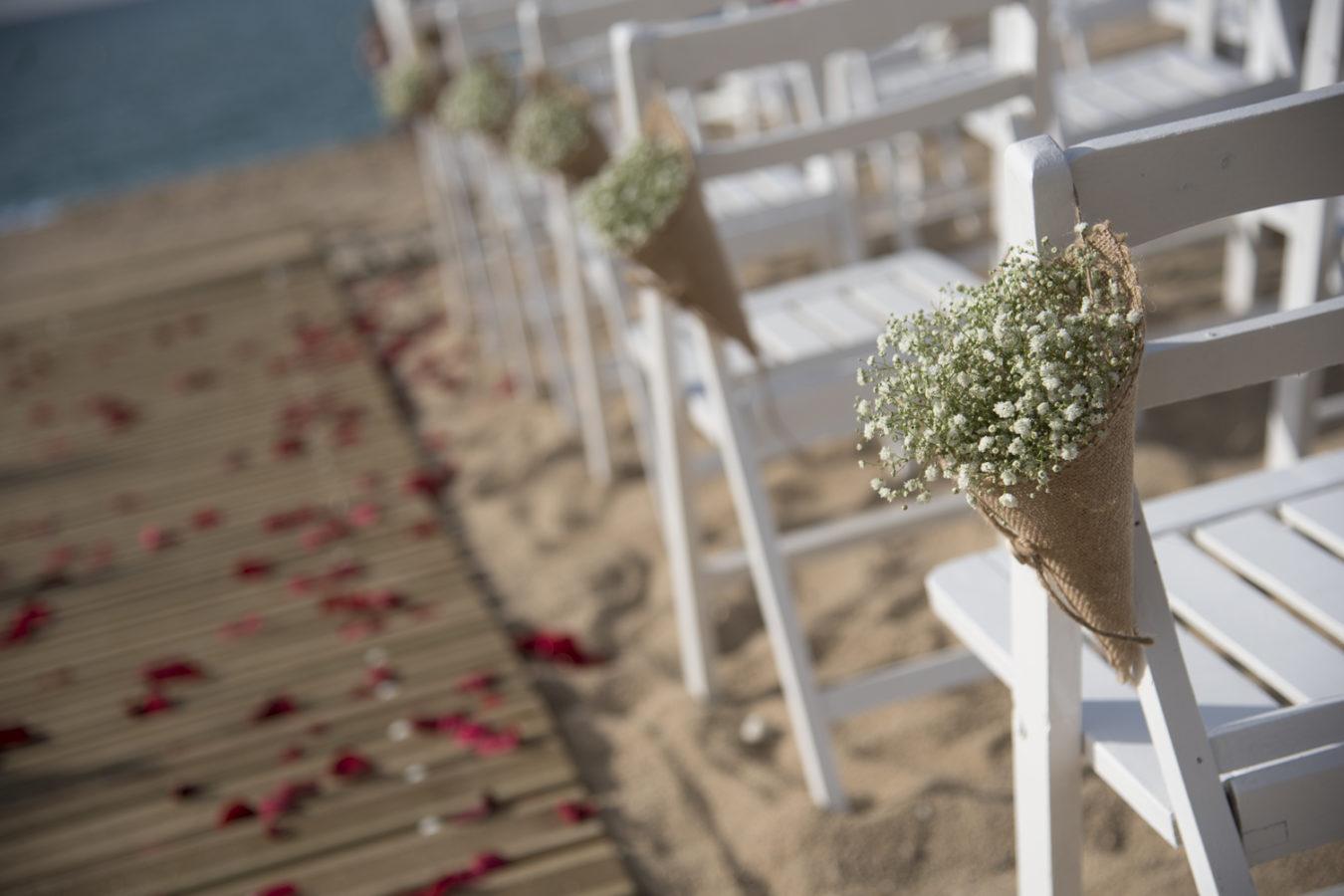La cerimònia del casament, al Bahari Club de Calella